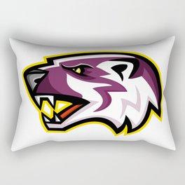 American Badger Mascot Rectangular Pillow