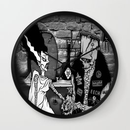 BRIDE OF FRANKENSTEIN TRIBUTE Wall Clock