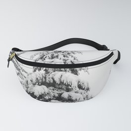 Winter Trees VI - Snow Capped Forest Adventure Nature Photography Fanny Pack