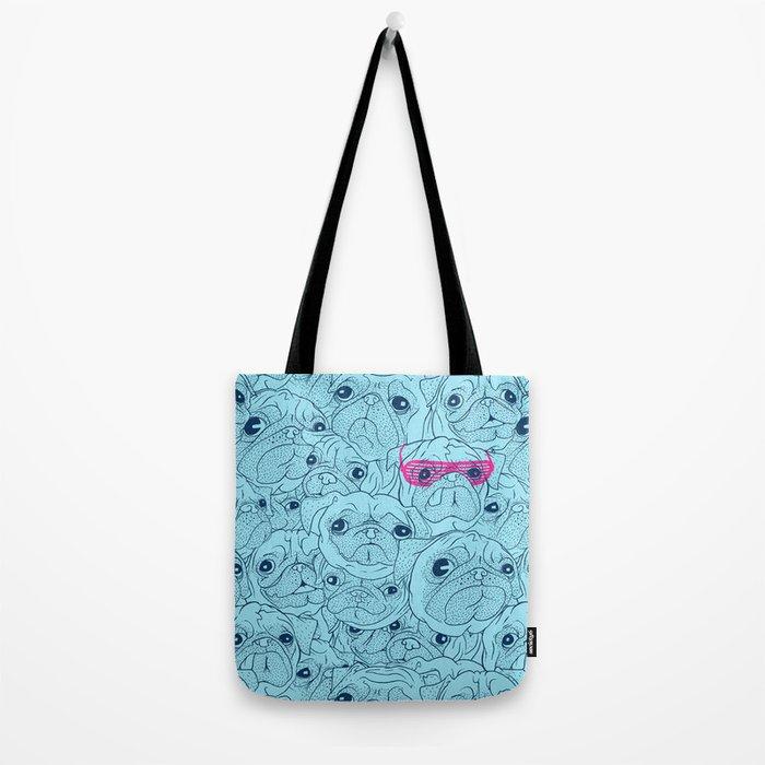 Pug jumble Tote Bag