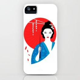 Geisha with parasol iPhone Case