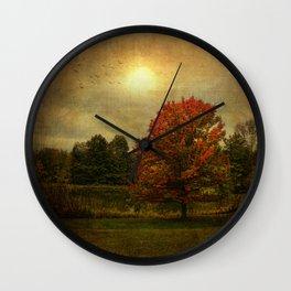 The Magic of Autumn Wall Clock