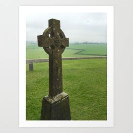 Celtic Cross - Rock of Cashel, Tipperary, Ireland Art Print