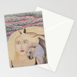 L'amour mêlé Stationery Cards