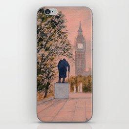 Churchill And Big Ben iPhone Skin
