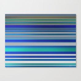 Blue lines 1 Canvas Print