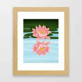 Lotus Flower Reflection Framed Art Print