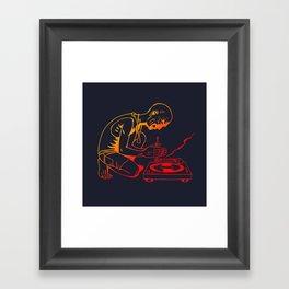 Turntable Man Framed Art Print