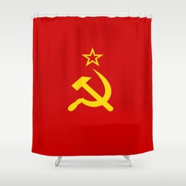 Flag of USSR Shower Curtain