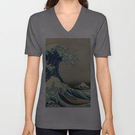 The Great Wave off Kanagawa Unisex V-Ausschnitt