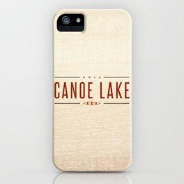 CANOE LAKE iPhone Case