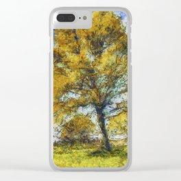 Summer Farm Van Gogh Clear iPhone Case