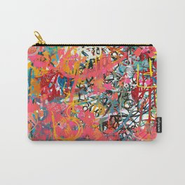 Urban Graffiti Abstract Sprayed Wall Art  Carry-All Pouch