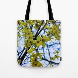 Yellow Flowers - Spring Arrives Tote Bag