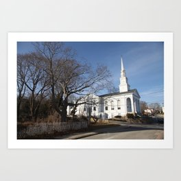 The House in white Art Print