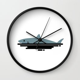 My Shark Died Wall Clock