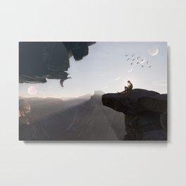 Two Worlds by GEN Z Metal Print
