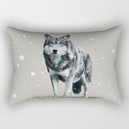 SNOW WOLF Rectangular Pillow