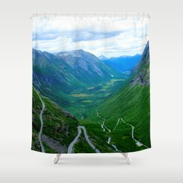 Snake Road Shower Curtain