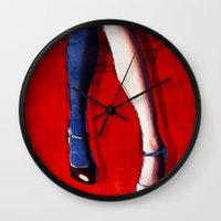 legs Wall Clocks featuring Legs by Ed Pires