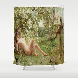 Springtime Awakening : Nude Art Shower Curtain