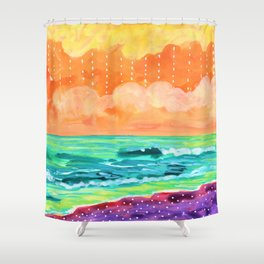 Simple Seascape IX Shower Curtain