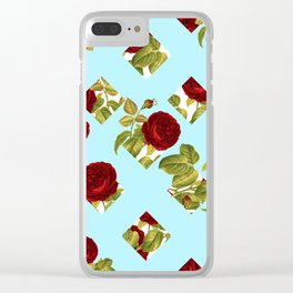 Roses Wall Clear iPhone Case