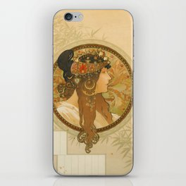 "Alphonse Mucha ""Byzantine Head: The Brunette"" iPhone Skin"