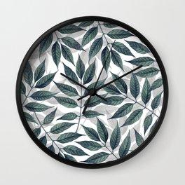 Modern autumn leaves image Wall Clock
