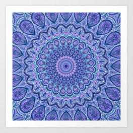 Purple Passion - Mandala Art Art Print