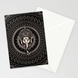 Lord Ganesha - Sepia Black Stationery Cards