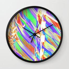Light Dance Carnival Ribs edit 2 Wall Clock