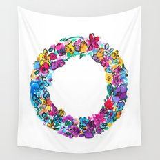 O Letter Floral Wall Tapestry
