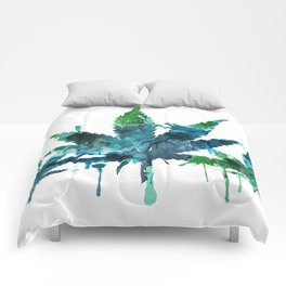 Blue Abstract Mary Jane Comforters