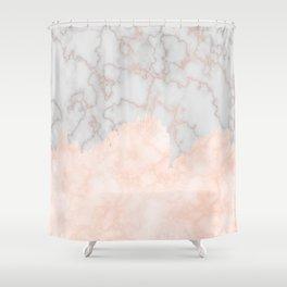 Rosette Marble Shower Curtain