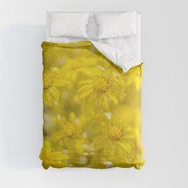 Soft Yellow Flora Comforters