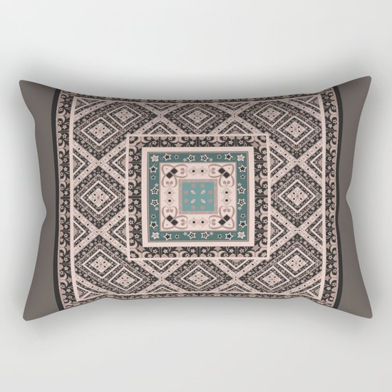 National classic abstract pattern retro print Rectangular Pillow