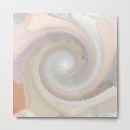 abstract ripple Metal Print