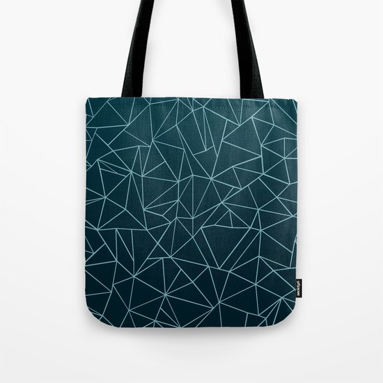 Ombre Ab Teal Tote Bag