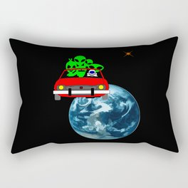 Ride to Mars selfie Rectangular Pillow