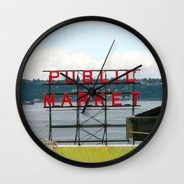 Pike Place Wall Clock