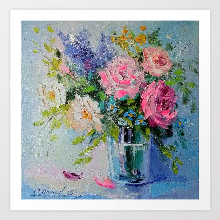 Morning roses Kunstdrucke