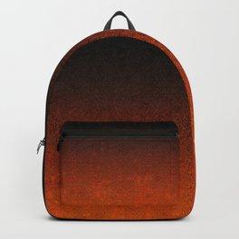 Orange & Black Glitter Gradient Backpack