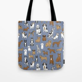 Dogs pattern minimal drawing dog breeds cute pattern gifts by andrea lauren Tote Bag