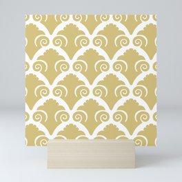 Scallop Pattern Gold Mini Art Print
