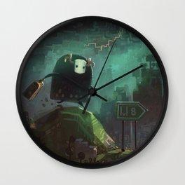 """""""Midboss Running Late"""" Wall Clock"""