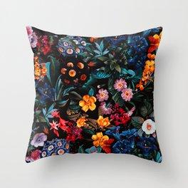 Midnight Garden XVI Throw Pillow