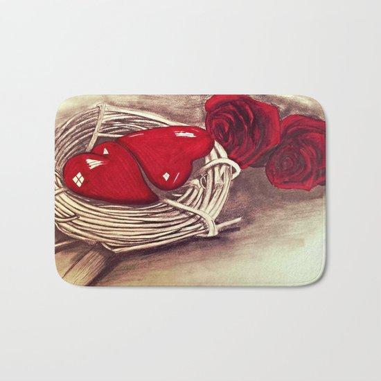 Heart of Rose Bath Mat