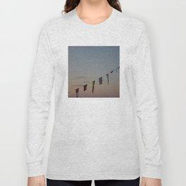 Flags and sunset Leith Edinburgh Long Sleeve T-shirt
