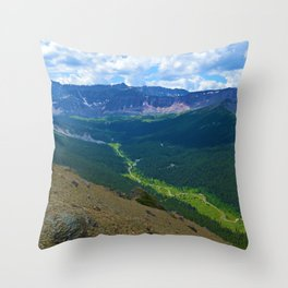 Views along the Bald Hills Hike in the Maligne Valley of Jasper National Park, Canada Throw Pillow